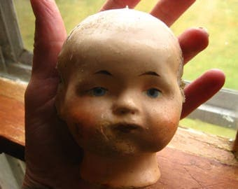 Baby Doll Head Composite Antique Distressed