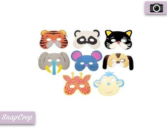 10 Piece Foam Animal Masks Party Photo Booths