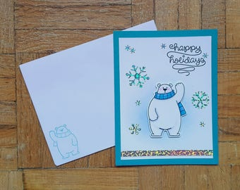 Happy Holidays Polar Bear Card