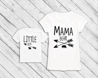 Mama Bear or Baby Bear. Mommy and me outfits MaMa Shirt. Matching Shirts. Mommy and Me shirts. mommy baby Tshirts. Women or kids.