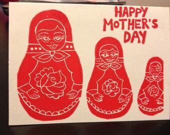 Nesting Doll (Matryoshka) Mother's Day Card