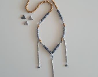 Boho stars necklace
