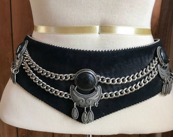 Suede corset vintage belt