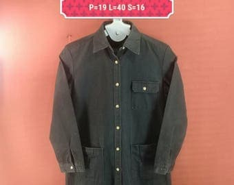 Vintage Journal Standard Long Jacket Parka Heavy Cotton Black Colour Size M  Yohji Yamamoto Comme des Garcons