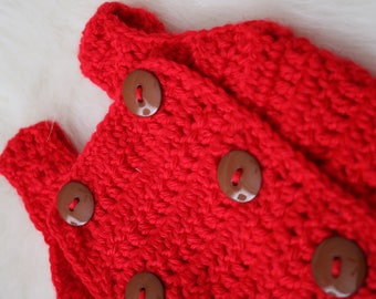 Knitted button baby romper