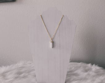White Jade Healing Stone Necklace