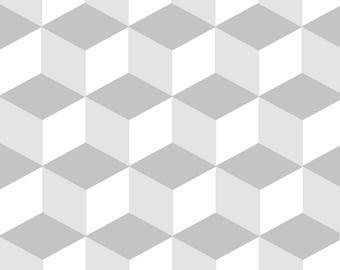 modern design gray cubes wall mural.