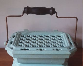 French vintage cast iron foot/carriage warmer