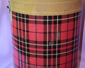 Vintage Red Plaid Hamilton The Skotch Kooler, Hamilton, Ohio, Made In The U.S.A.