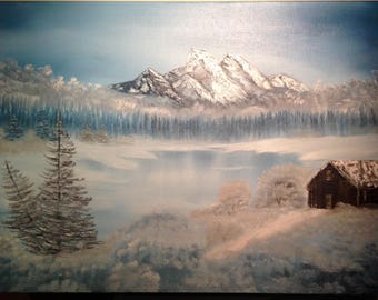 Icy Tranquility oil painting