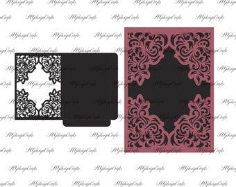 Envelope For Wedding Invitation. Frame Card 5x7 Svg Dxf Eps Ai  Cricut U0026  Silhouette