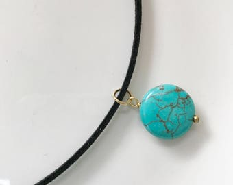 Choker with turquoise stone