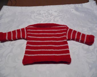 Sailor Style Baby sweater size 6 to 9 months