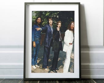 Abbey Road / The Beatles print / The Beatles poster / Music decor / Music gift / Vintage photo print / Digital print / Vector poster /