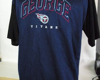 Eddie George Tennessee Titans  t-shirt, size xl, polyester