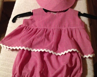 Baby Girls Hat and Outfit