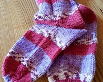 Hand-knitted children socks size 26/27