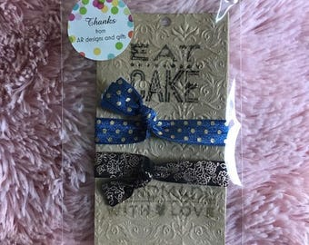 Eat Cake: Hair Tie/Bracelet package with optional greeting card