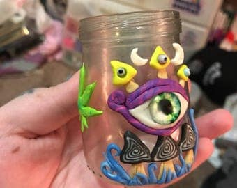 Trippy Eyeball Stash Jar
