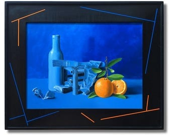 Oranges in a Blue Mood