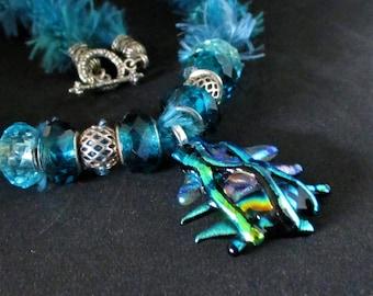unusual glass necklace, art glass pendant, art glass jewelry, unusual glass  jewelry, unusual gift, art glass necklace, fused glass necklace