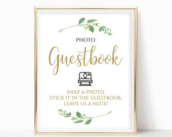 Printable Photo Guestbook Sign Reception Sign Ceremony Sign Instant Wedding Guestbook Wedding Signage Instant Download 8x10,5x7,4x6 Jasmine