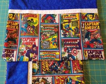 Captain America Comic Pillowcase set standard size