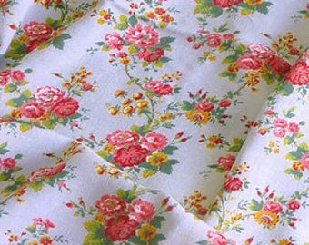 Blue French Rosy Fabric