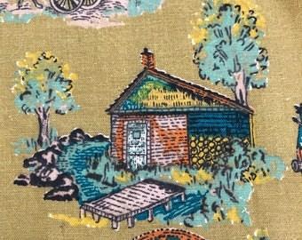 Vintage Bicentennial Cotton Fabric