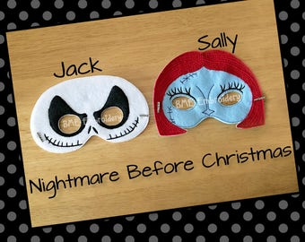 Jack Felt Mask-SallyMask-Child Dress Up Imaginary Play- Birthday Party Favor-Photo Prop-Jack Skellington Nightmare Before Christmas Mask