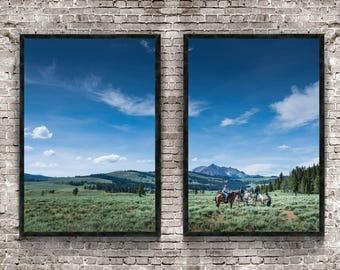 Open Range 16x24 diptych - 2 beautiful prints