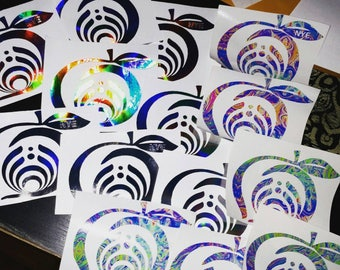 """Bassnectar, vehicle decals, Reflective pt. 1 & Reflective pt. 2 styles, NYE, Peach state, 5in by 5in, Read """"Item Details"""" before checkout."""