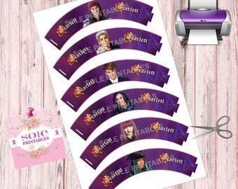 Customize Descendants 2 Cupcake Wrappers- Legal Paper