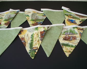 Tractor themed Bunting