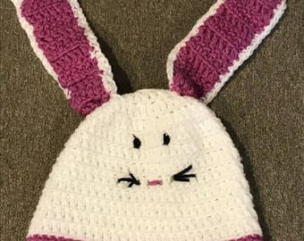 Bunny Hat and Matching Diaper Cover