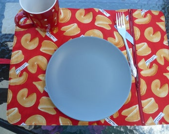 placemat, lunch, camping cookies motif doily placemat