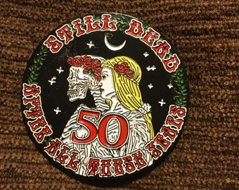 Grateful Dead 50 year anniversary hat pin