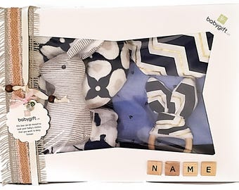 Baby Girl Nautica Navy First B-Day Gift Set in personalized box