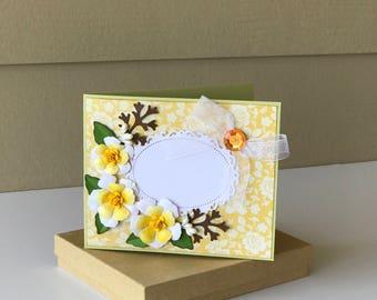 Custom card /3D/Birthday Card/Mother's Day Card/Valentine's Card/Anniversary Card/Wedding Card/Congratulations Card/Yellow/gift card holder