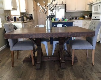 Custom Dining Table, Pedestal table, Farmhouse table, Dining Table, Handmade Table, French Country Table, Kitchen Table
