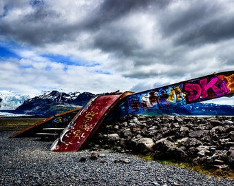 Iceland - A glacier that left a broken bridge in path