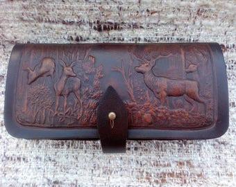Leather Hunting Belt Cartridge Holder 7 shells 12 gauge hunting