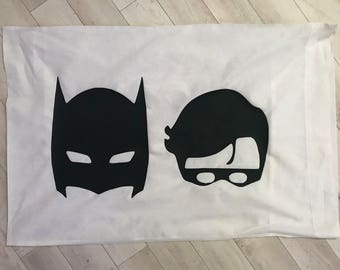 Batman & Robin Pillow Case Cover