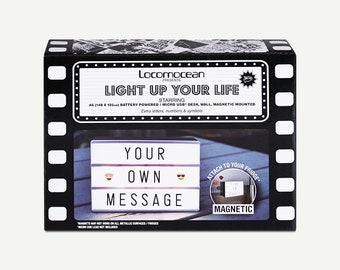 Lightbox, Locomocean - alphabet lightbox, emoji lightbox, number lightbox, symbol lightbox, letter lightbox, night light, LED lightbox, A6