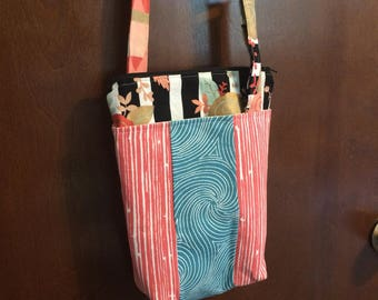 Mixed print Simple Crossbody Bag with adjustable strap
