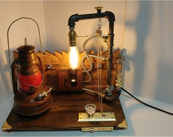 9  Converted Lantern With Fence Lamp