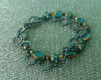 Beautiful chain and bead bracelet