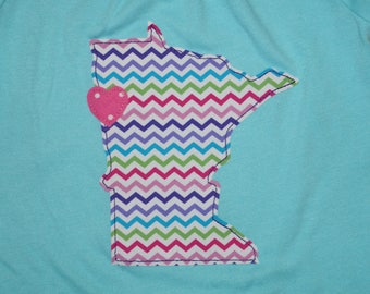 Love Minnesota Girl's Shirt