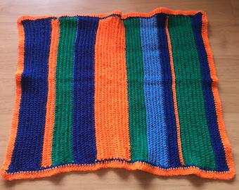 Neon Crochet Baby Blanket