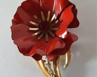 2 Vintage Brooch Flower Pins